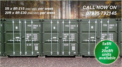 Self Storage at Landford for wiltshire, Dorset and Hampshire
